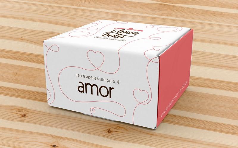Embalagem caixa para bolos