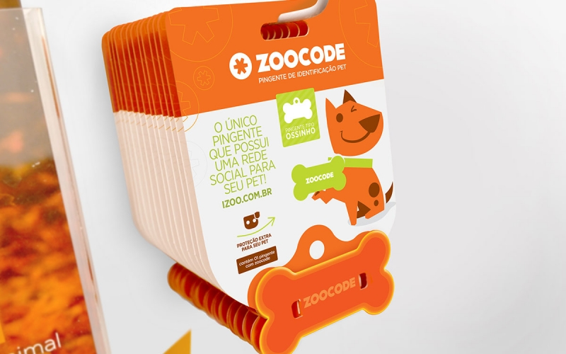 Embalagem pingente zoocode