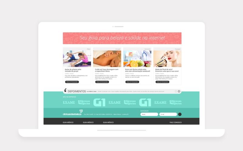 Click Saúde Site